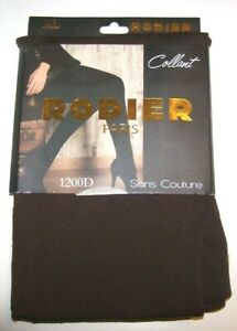 collant-marron-XL-1200D-sans-couture-Rodier-Paris