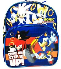 """Boom Sonic the Hedgehog Team 12/"""" inches Small Backpack /& Lunch Box Licensed"""