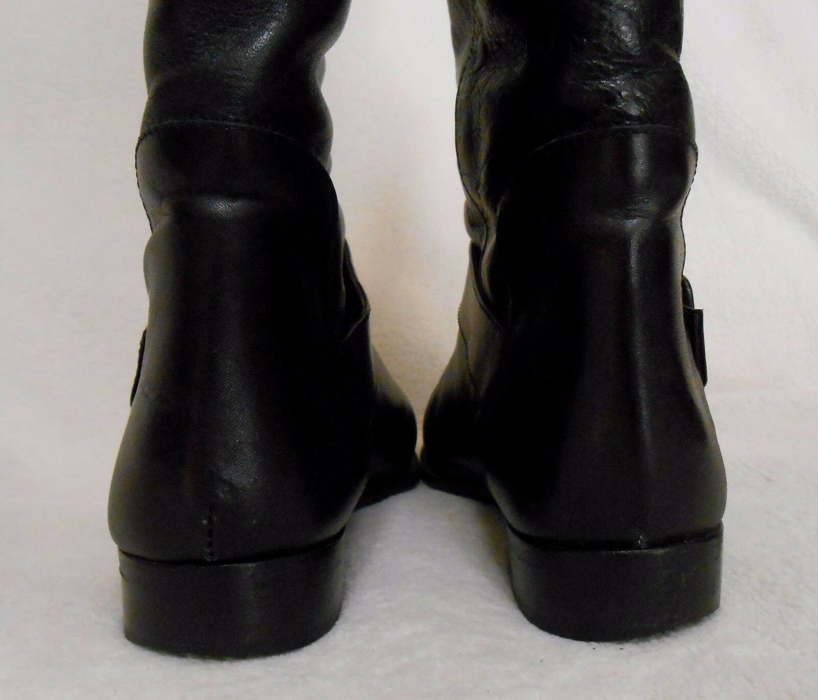 PETIT FLEUR BLACK LEATHER HIGH Stiefel, MADE IN IN IN ITALY, SIZE 40 EURO-9, WITH BOX  82a171