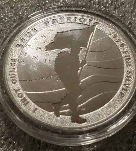 1 oz .999 silver American Soldier Patriot stars and stripes Army Trump made USA