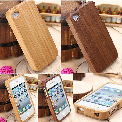 Genuine Real Natural Wood Wooden Bamboo Hard Case Cover For Apple iPhone 5 5s SE