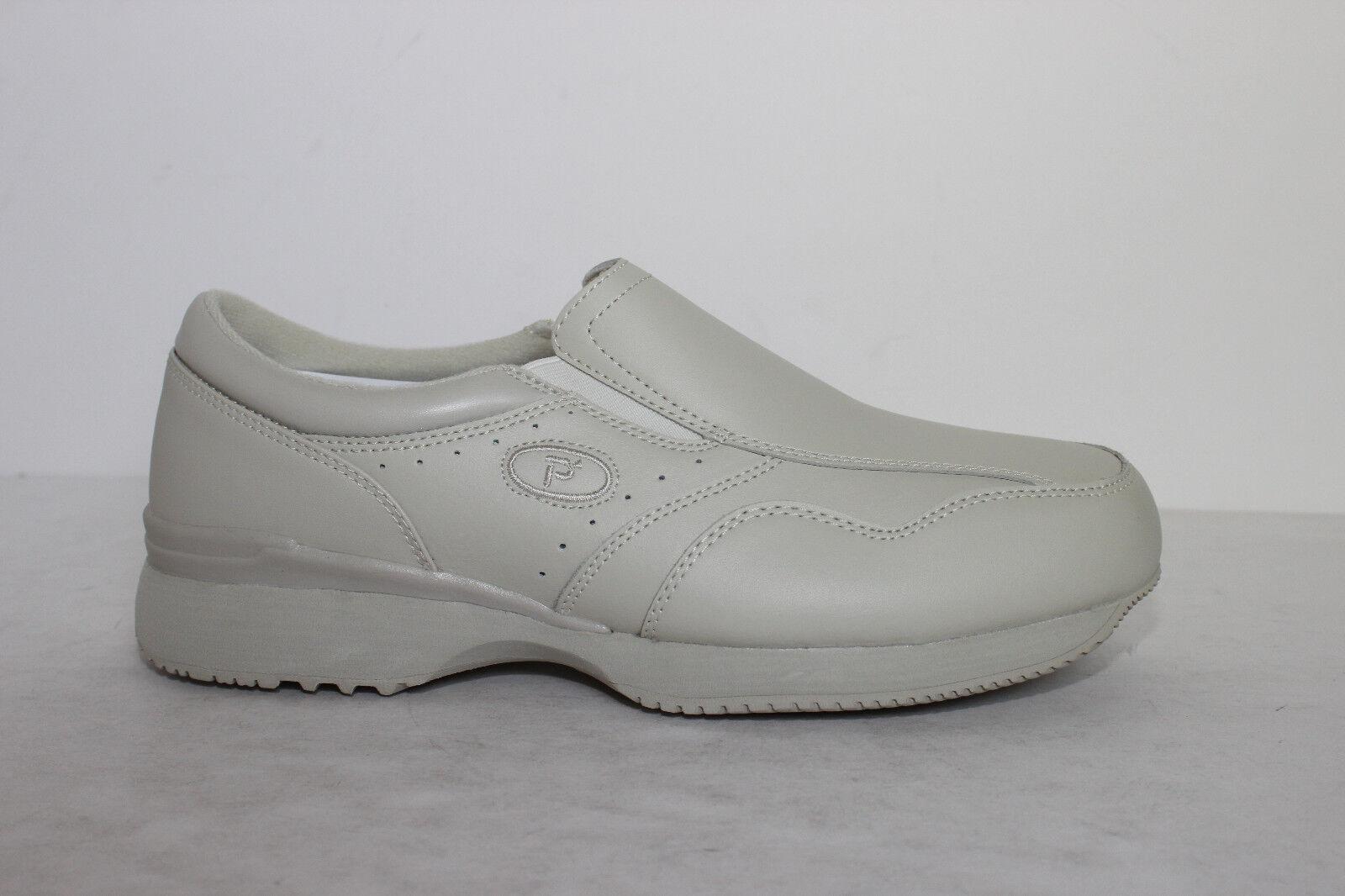 Propet Crossroads Mens Leather Slipon shoes M3707S White - All Sizes 3E, 5E Wide