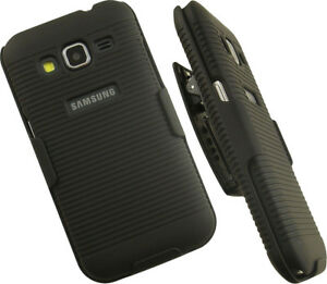 low priced 331ee a8591 Details about BLACK HARD CASE COVER BELT CLIP HOLSTER STAND FOR SAMSUNG  GALAXY CORE PRIME G360