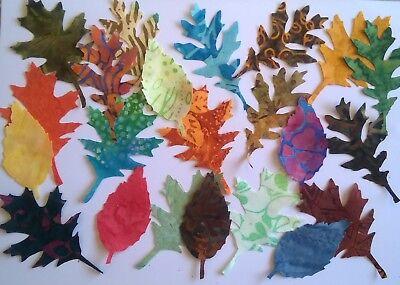 Batik Aspen Leaves fabric scrap Pack remnants patchwork bundle 100/% cotton
