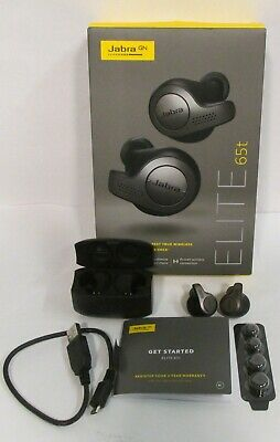 Jabra Elite 65t Wireless Earbud Headphones Titanium Black Ebay