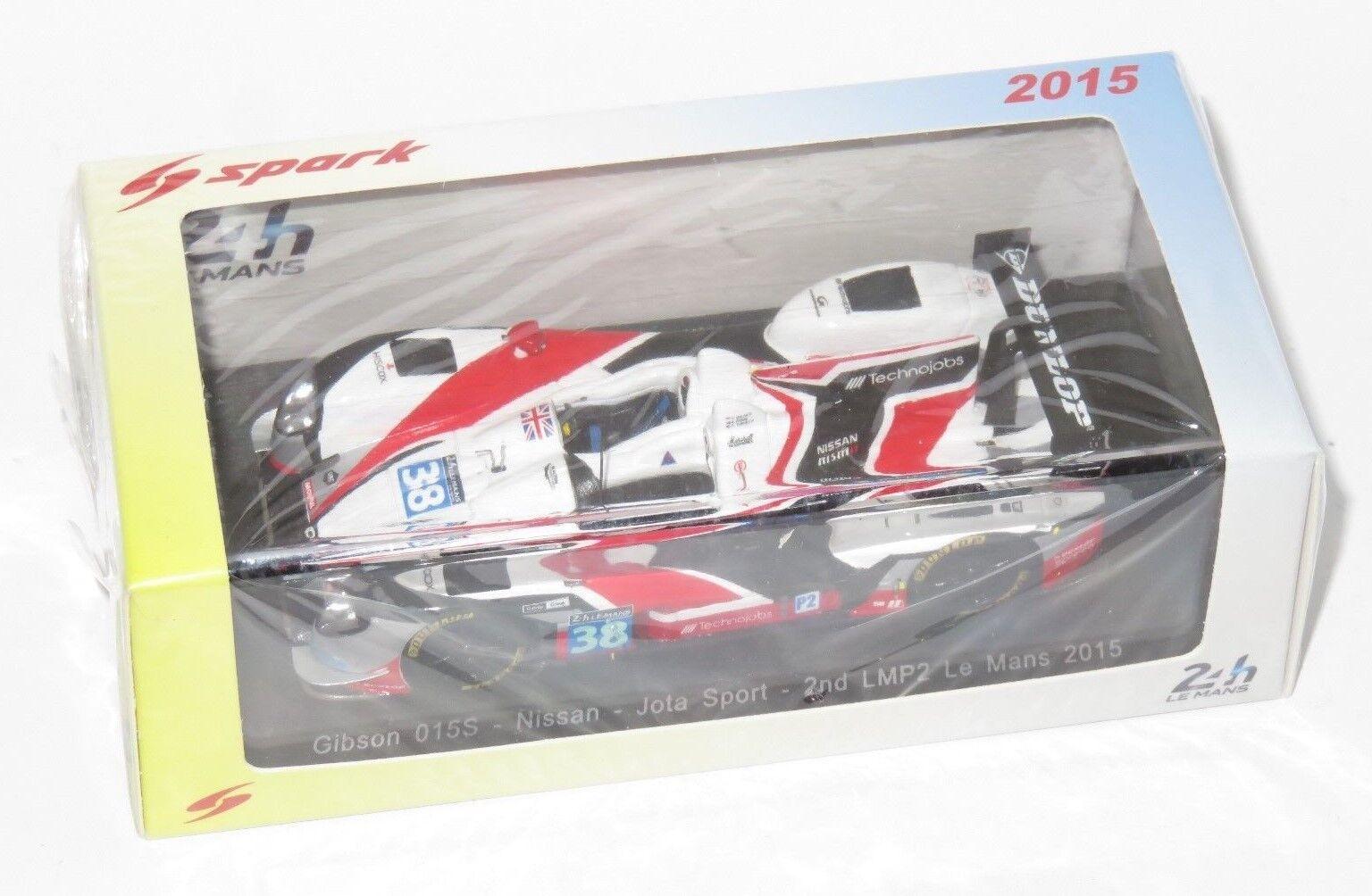 1/43 Gibson 015S Zytek Nissan Jota Sport Le Mans 24 HRS 2018 38 2nd LMP2