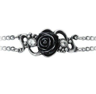 Dark Love Grape Vines Alchemy England Bacchanal Rose Bracelet Black Gothic