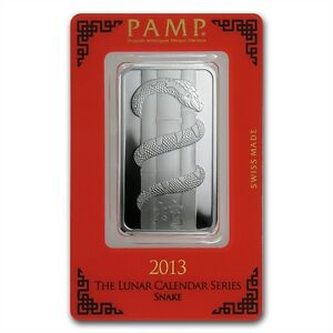PAMP-Suisse-Lunar-Year-of-the-Snake-2013-1-oz-999-Silver-Bar-in-Assay