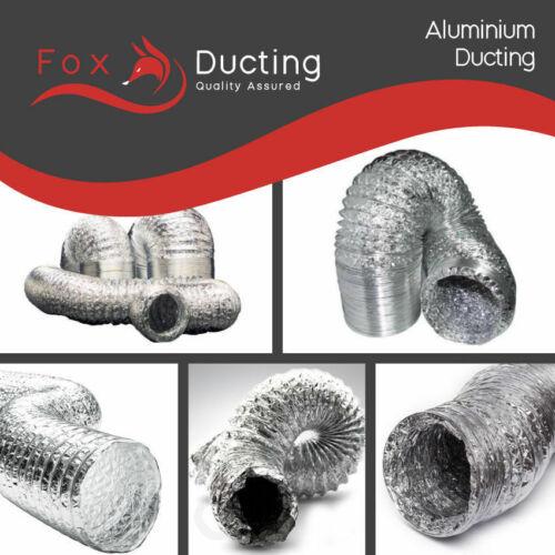 Aluminium Foil Flexible Ducting 200mm x 10m Ventilation /& Hydroponic Accessory