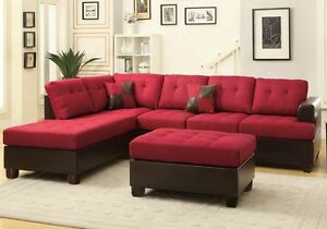 Image Is Loading 3 Pcs Large Living Room Reversible Sectional Sofa