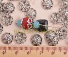 100pcs 10mm Tibetan Silver Bead Caps Charms Heart Spacer Beads Jewelry Findings