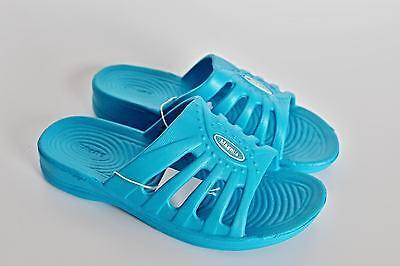 Damen Badelatschen - Badepantoletten -Badeschuhe blau Gr. 36 37 38 39 40 41