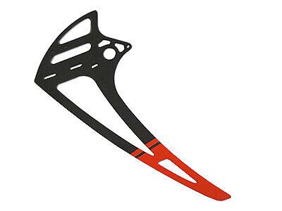 SAB Carbon fiber vertical fin - RED (1pc) - Goblin 700/770[H0117-S]