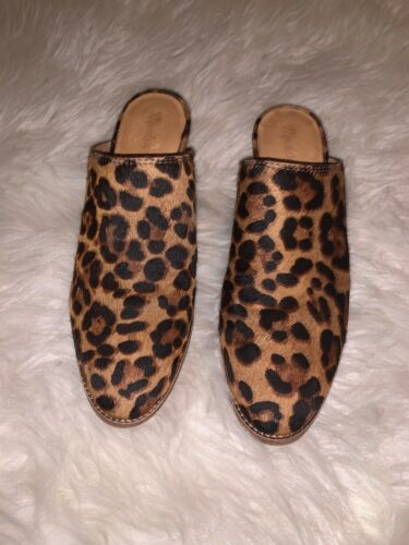 Madewell Animal Print Dyed Cow Hair Leather Block