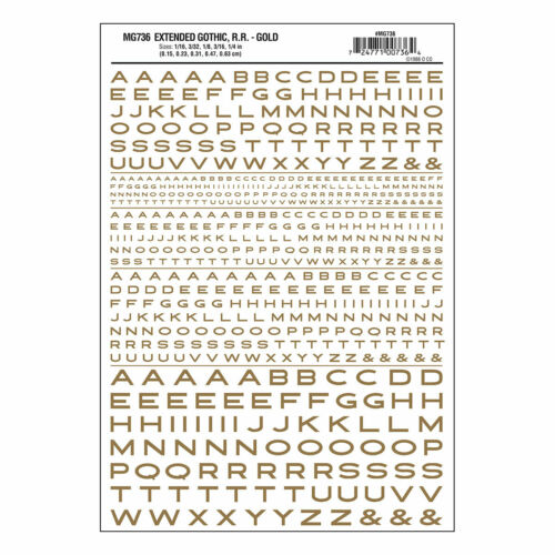 32 Packung 1 Woodland Scenics Buchstaben und Zahlen Trocken Transfer Blätter