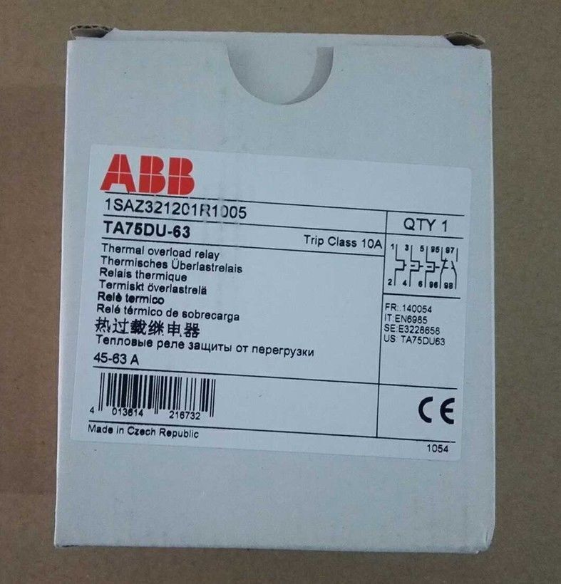 1PC New For ABB TA75DU-63 Thermal Overload Relay free shipping