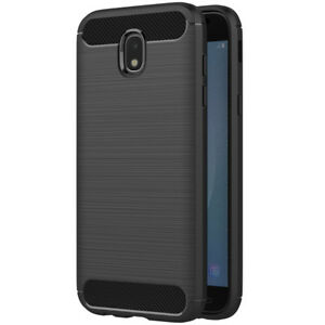 Handy-Huelle-Samsung-Galaxy-J7-2017-TPU-Case-Carbon-Optik-Brushed-Schutz-Huelle