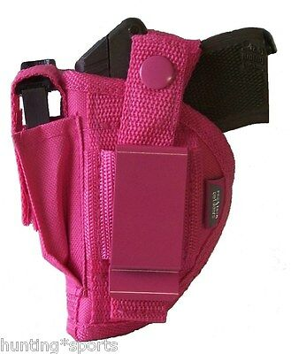 Pink Gun holster w/mag pouch fits Ruger LCP 380 use left or right hand draw