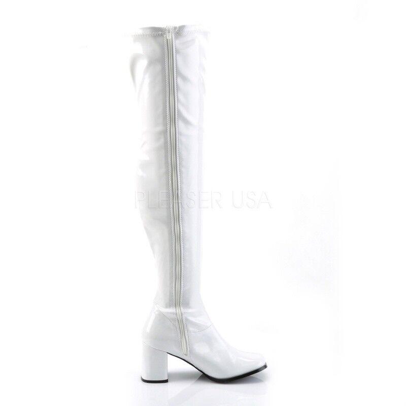 Funtasma Stiefel Overknee Stiefel Funtasma GOGO-3000 Weiss Lack 614281