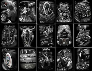 DGA-David-Gonzales-Art-Ride-or-Die-Day-Of-The-Dead-Tin-Metal-Sign-12-x-16