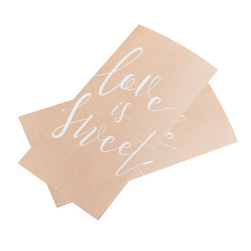 20 Papiertüten /'Love is sweet/' Kraftpapier-weiß Candy Bar Candybar Hochzeit