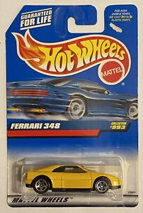 1998 HotWheels FERRARI 348 GIALLO! molto RARO! Nuovo di zecca! MOC!