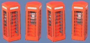 Escala-1-32-4-X-Cajas-De-Telefono-Rojo-kit-para-Scalextric-Otros-Disenos-estatica