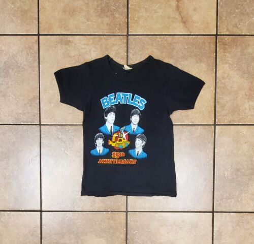 Vintage 70s The Beatles 15th Anniversary Black Sin