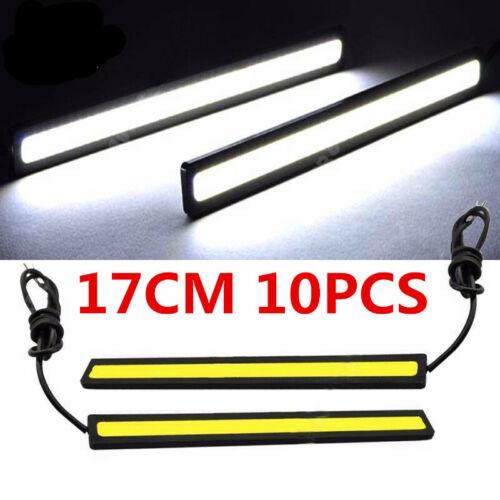 10Sets 10V-12V LED COB Car DRL Fog Driving Daytime Running Lamp Light Waterproof