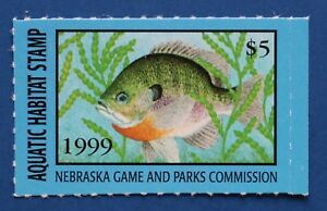 Image Is Loading U S NEAH03 1999 Nebraska Aquatic Habitat Stamp MNH