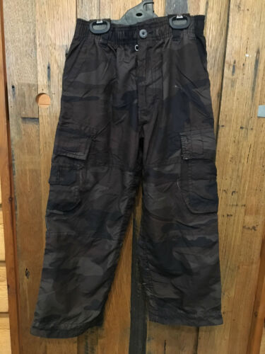 Boys Brown Camo Cargo Pants Size 7