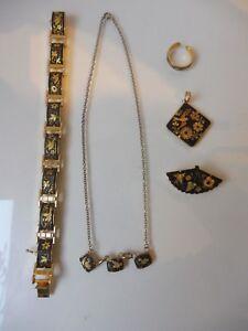 Convolute-old-Jewelry-Toledo-Bracelet-Necklace-Ring-Pendant-Brooch
