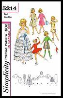 Tammy Barbie Jan 12 Vintage Fashion Doll Fabric Sewing Pattern Simplicity 5214