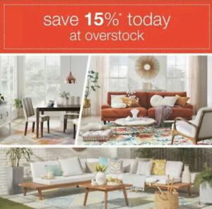 Overstock Com 15 Off Coupon Promo Code Exp 08 31 20 Ebay