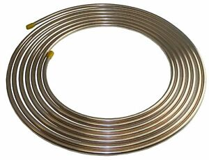 Copper//Cupronickel Brake Line Tubing 10 Ft Roll of 1//4 .028 Wall