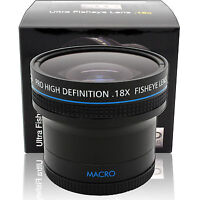 0.18x Super Wide Angle Macro Fisheye Lens For Nikon Canon Sony Pentax SLR Camera