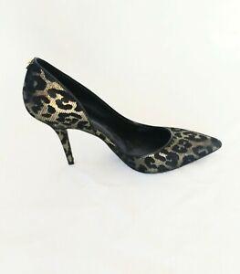 gold leopard print heels shoes size