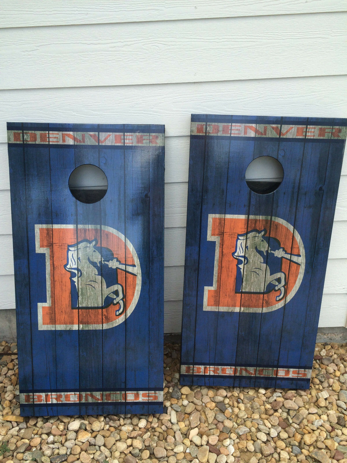 Denver Broncos Corn Hole Boards - Bean Bag Toss Game