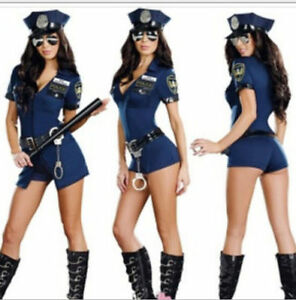 Image is loading Sexy-Women-Lady-Police-Costume-Cosplay-Dress-Fancy- : police costume for women  - Germanpascual.Com