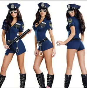 Image is loading Sexy-Women-Lady-Police-Costume-Cosplay-Dress-Fancy- & Sexy Women Lady Police Costume Cosplay Dress Fancy Dress Halloween ...
