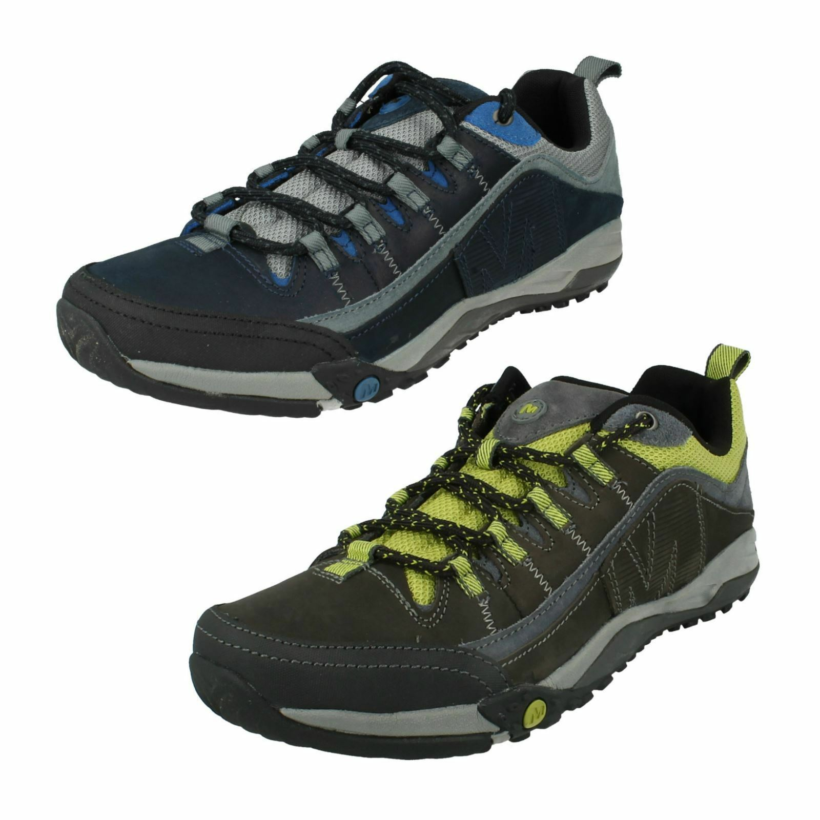 MENS MERRELL CASUAL LACE UP LEATHER WALKING HIKING SHOES HELIXER DISTORT
