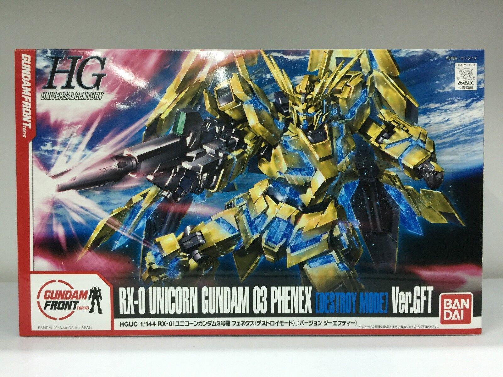 Bandai Gundam Front Tokyo HG 1  144 RX -0 Unicorn Gundam 03 Fenex Version GFT JPN