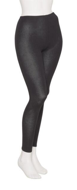 Ladies Womens Black Cotton Lycra Dance Gym Ankle Leggings By Katz KDTC02