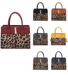 New-Womens-Leopard-Skin-Print-Large-Tote-Hobo-Handbag-Shopper-Shoulder-Bag