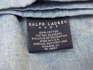 NEW $145. LAUREN RALPH LAUREN HOME (1) PREMIUM FULL FLAT DENIM SHEET BLUE