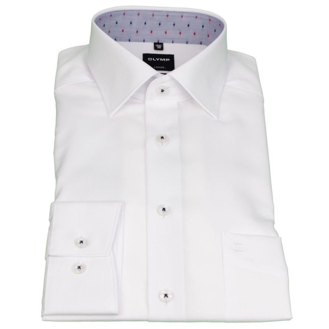 Olymp Men's Luxor Modern Fit Shirt White Plain 1882 90 00