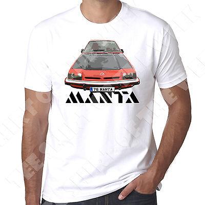 Opel Manta Gte SR Berlinetta 1976  mens T shirt 100% Cotton