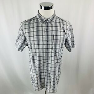 The-North-Face-White-Gray-Button-Front-Plaids-amp-Checks-Shirt-Mens-Large-L