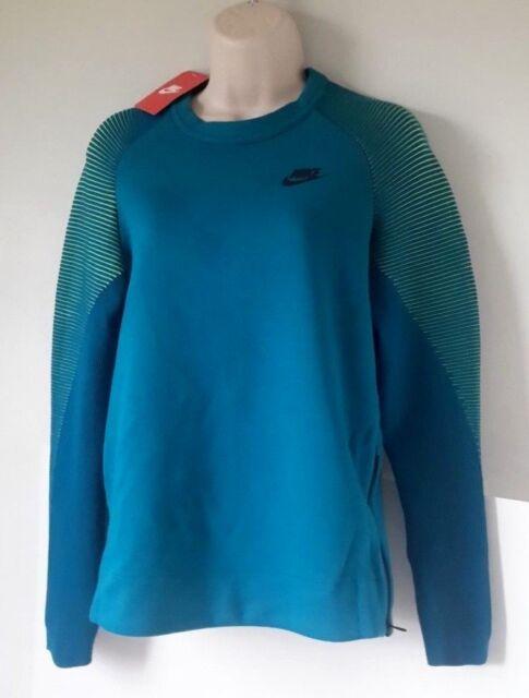 4cdc88c17 Nike Womens Sportswear Tech Fleece Crew Shirt Blue/green XS for sale ...