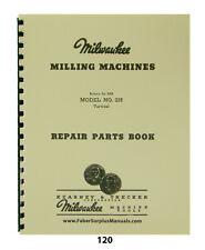 Milwaukee Kearney Trecker Model 2h Vertical Milling Machine Parts Manual 120